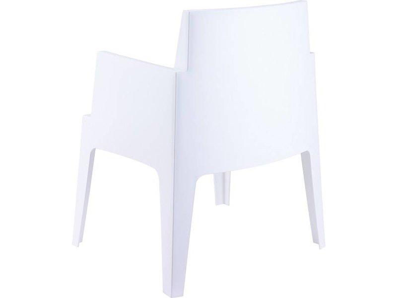 PAZOON Box grau/weiß  mit Taste by 4 Seasons Louvre tisch 240cm 7-teilige gartenmöbel-set