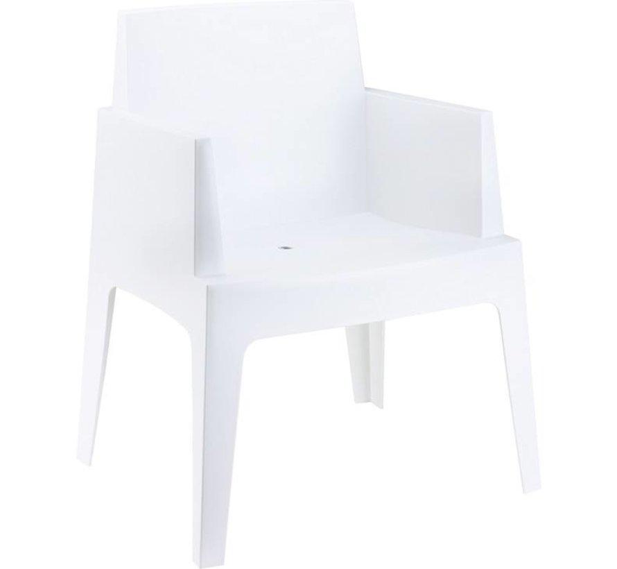 Box grau/weiß  mit Taste by 4 Seasons Louvre tisch 240cm 7-teilige gartenmöbel-set