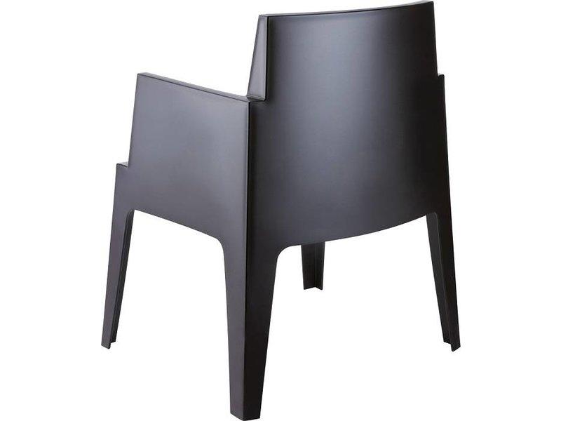 PAZOON 6x Box armchair schwarz/weiß  mit Taste by 4 Seasons Louvre tisch 240cm