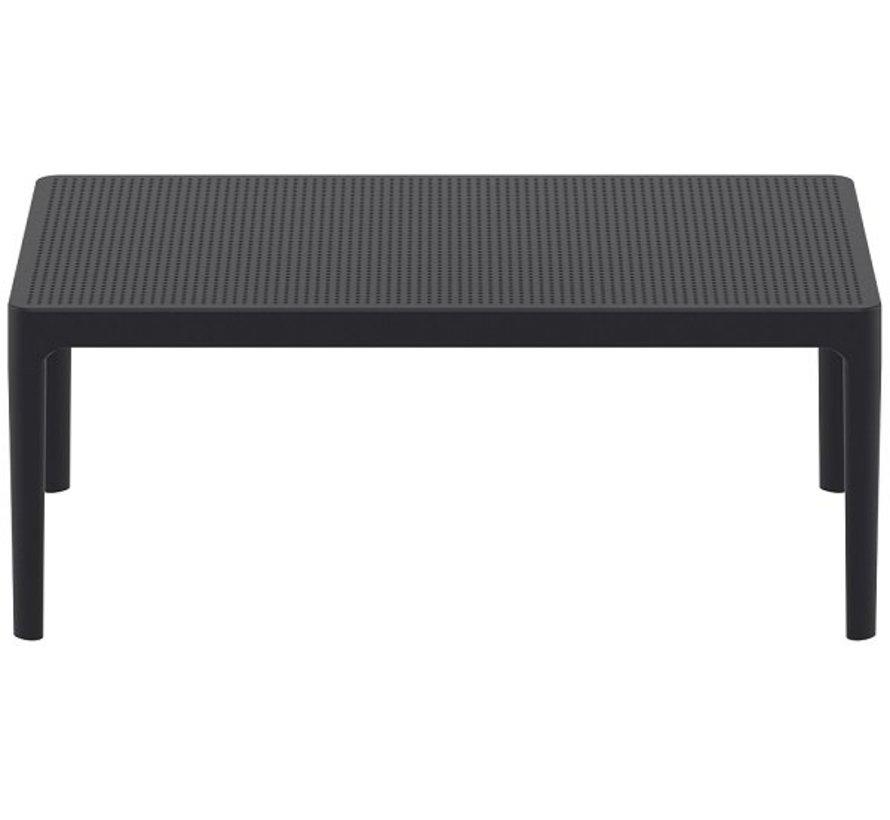 Sky loungeset zwart met loungetafel 3-delig