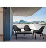 PAZOON Sky  lounge garnitur Schwarz mit loungetisch 4-teilig