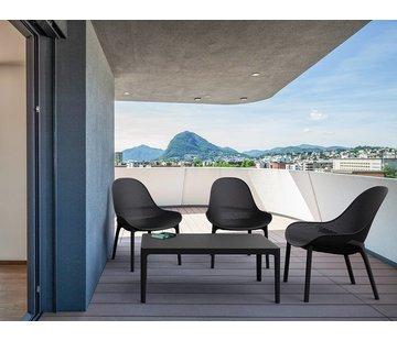 PAZOON Sky  lounge garnitur schwarz 4-teilig