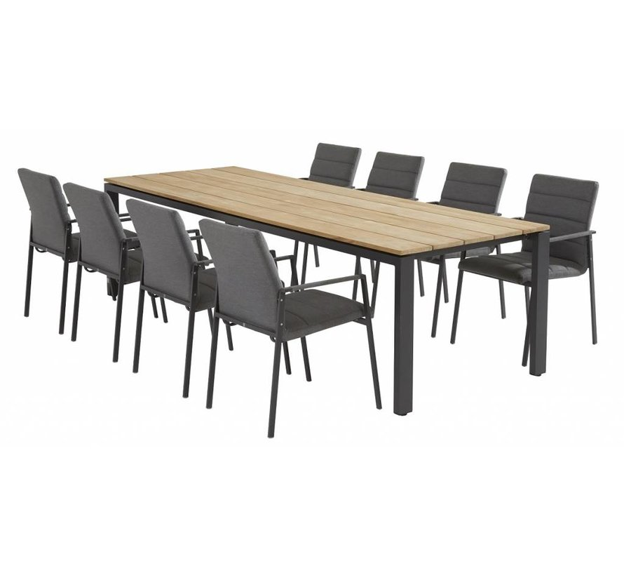 Panama  diningset 9-Teilig mit Goa  Gartentisch 280cm x 95cm