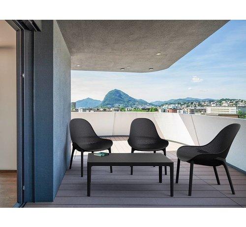 PAZOON Sky loungeset zwart met loungetafel 5-delig