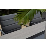 4 Seasons Outdoor Panama diningset 9-delig met Goa tuintafel 280cm x 95cm