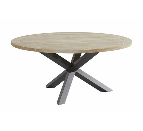Taste by 4 Seasons outdoor Taste by 4 Seasons Louvre Teak tafel 160cm Ø met aluminium poot