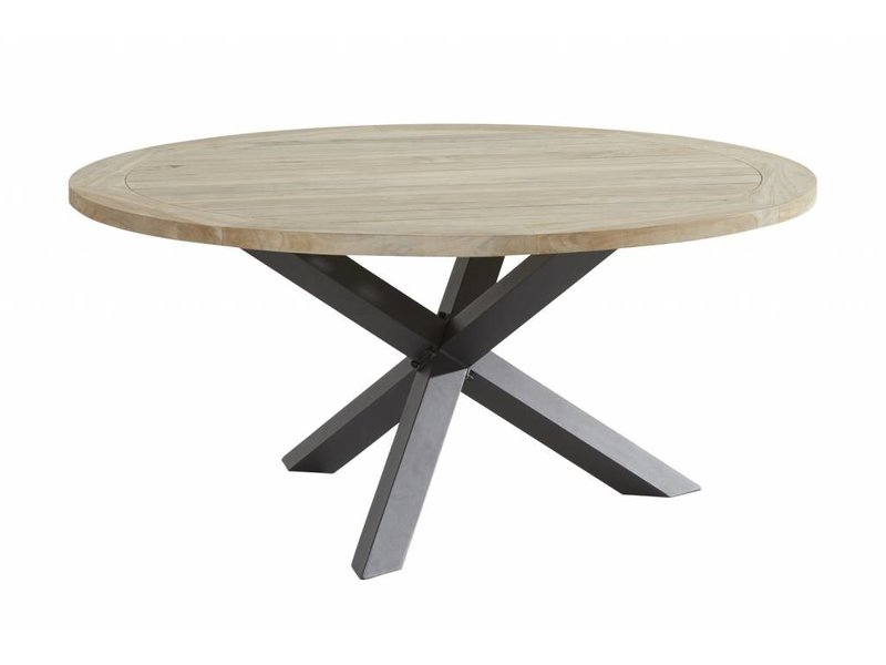 Taste by 4 Seasons Taste by 4 Seasons Louvre Teak tafel 160cm Ø met aluminium poot