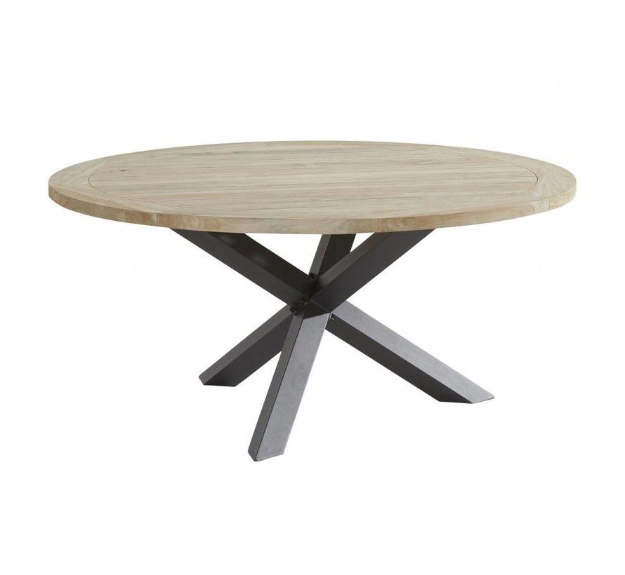 Taste by 4 Seasons Louvre Teak tafel 160cm Ø met aluminium poot