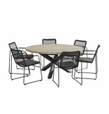 Taste by 4 Seasons 4x Taste by 4 Seasons Elba mit Louvre teak tisch 160cm rund