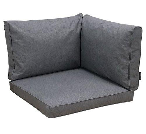Madison Kissenset für Loungemöbel und Garnitur Rückenkissen und Sitzkissen Grau