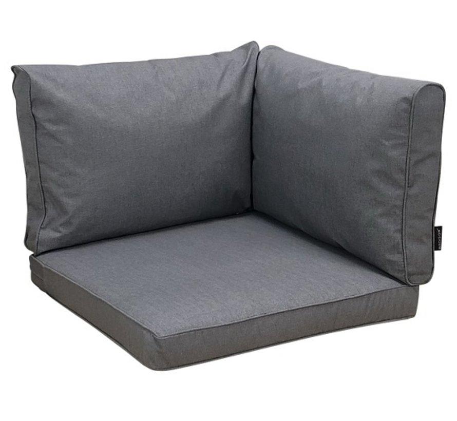Kissenset für Loungemöbel und Garnitur Rückenkissen und Sitzkissen Grau