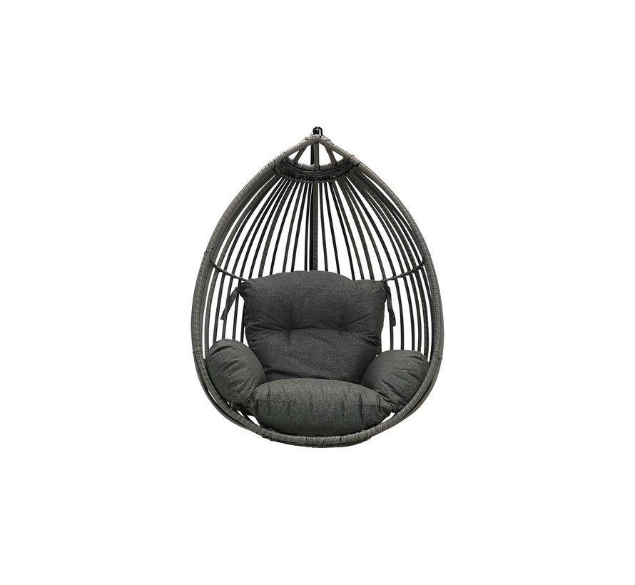 Paris hangstoel Solo Sand-Grey losse eggchair