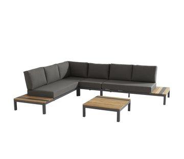 Taste by 4 Seasons outdoor Meridien Loungemöbel-set Matt Carbon mitTeak