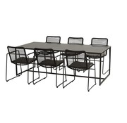 4 Seasons Outdoor Quatro 220cm met Elba dining