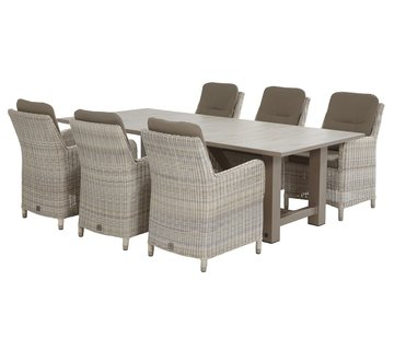 4 Seasons Outdoor Diva 240cm met Indigo dining