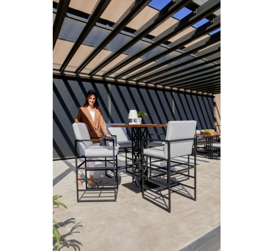 Amsterdam möbel aluminium 5-teilige Barset   Hellgrau