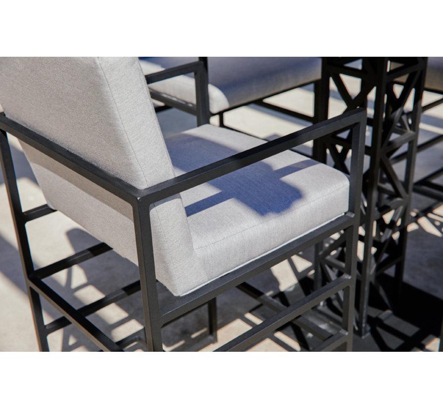 Amsterdam 5-delige Barset aluminium met teak blad