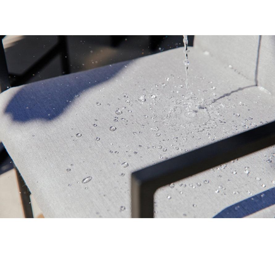 Amsterdam aluminium mit teak platter 7-teilige gartenmöbel-set