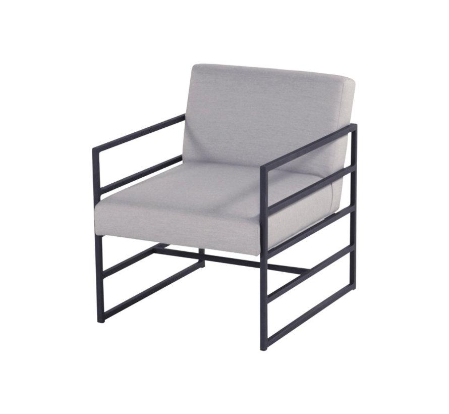 Amsterdam Lounge 4-delige loungeset aluminium & teak