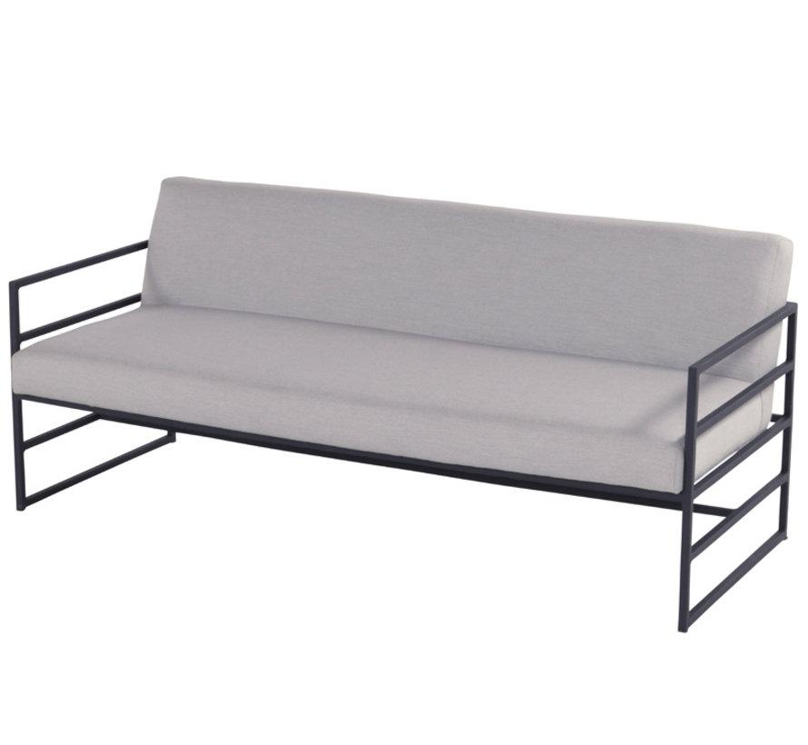 Amsterdam 4-teilige loungegruppe mit aluminium und teak