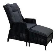 Reint Middel Osborn schwarz Verstellbarer Stuhl mit hocker