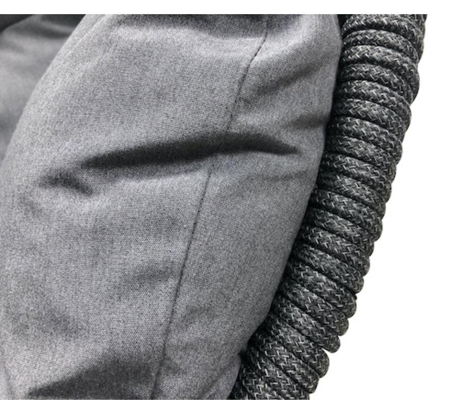 Paris Hangstoel antraciet Rope  / Zwart frame