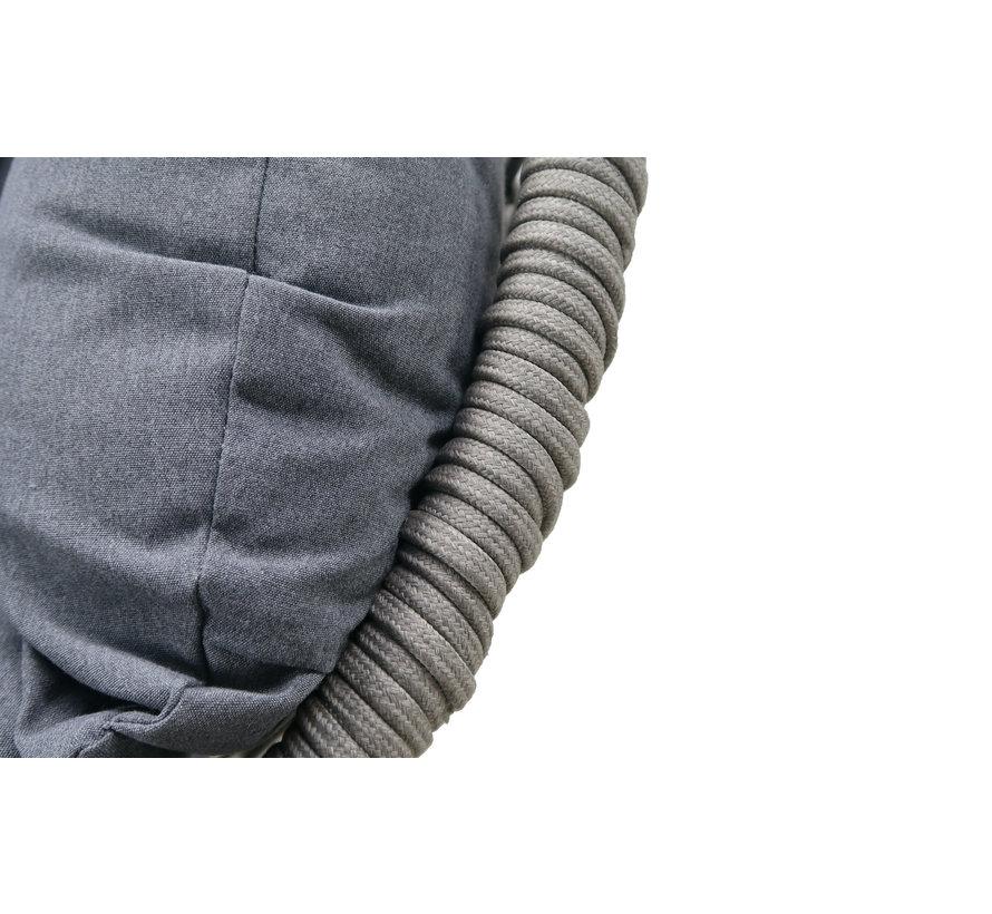 Paris Hängesessel Sand rope - Schwarz unterstell