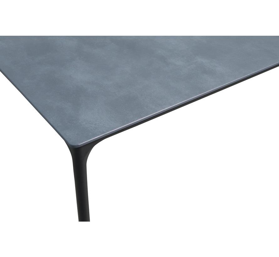 PAZOON Sophie 220cm x 100cm tuintafel met Riva White Faded Grey verstelbare tuinstoel 7-delig