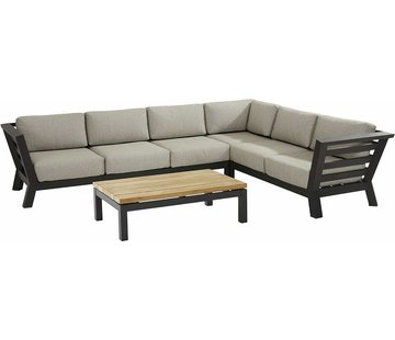 4 Seasons Outdoor Meteoro Loungeset mit Capitol teak Tisch