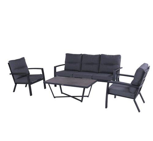 Hartman Canberra aluminium loungeset Xerix met loungetafel