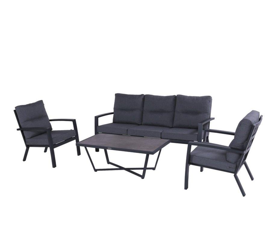 Canberra aluminium loungeset Xerix mit loungetisch