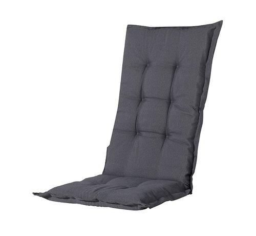Madison Madison Stuhlauflage Hochlehner Grau 123cm