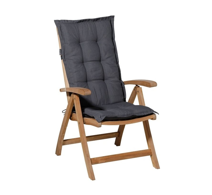 Madison stoelkussen hoge rug grijs 123cm