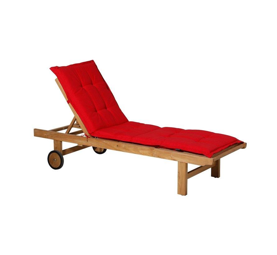 Ligbedkussen Panama Rood 200x60cm