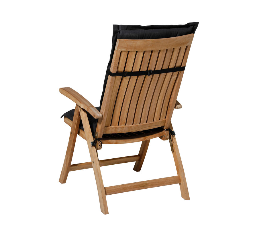 Madison stoelkussen hoge rug zwart 123cm
