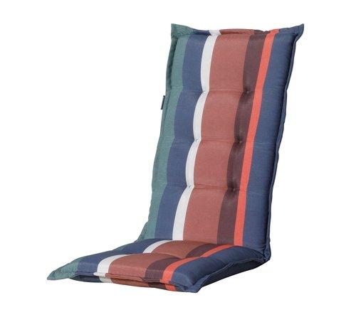 Madison Madison Stuhlauflage Hochlehner Stripe Blau 123cm