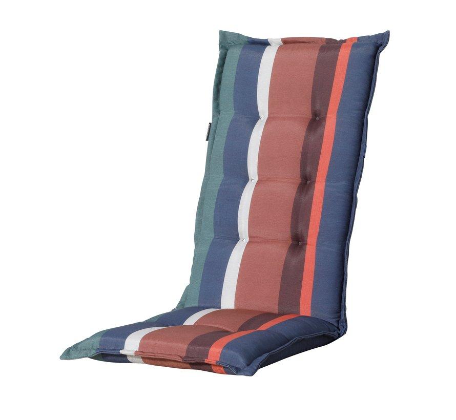 Madison stoelkussen hoge rug Stripe Blauw 123cm