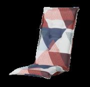 Madison Stuhlauflage Panama Triangle Blau