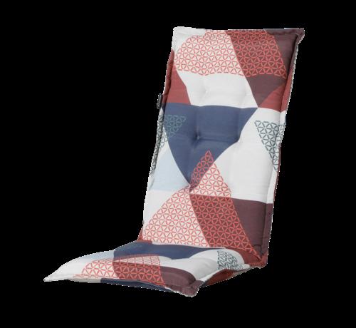 Madison Madison stoelkussen hoge rug Triangle Blauw 123cm