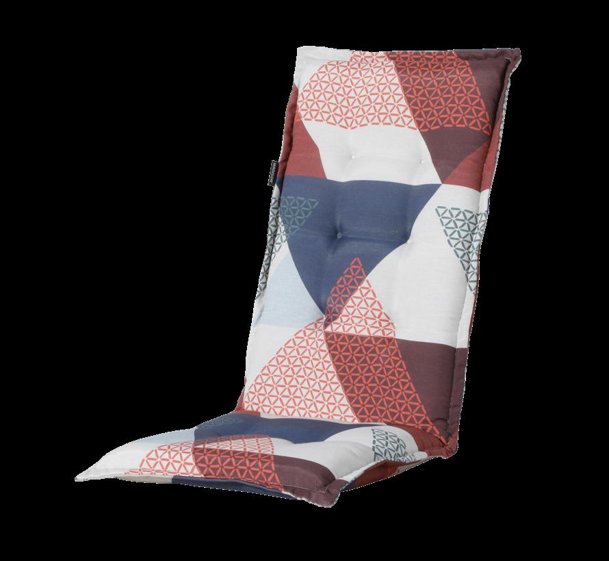 Madison Stuhlauflage Hochlehner Triangle Blau 123cm