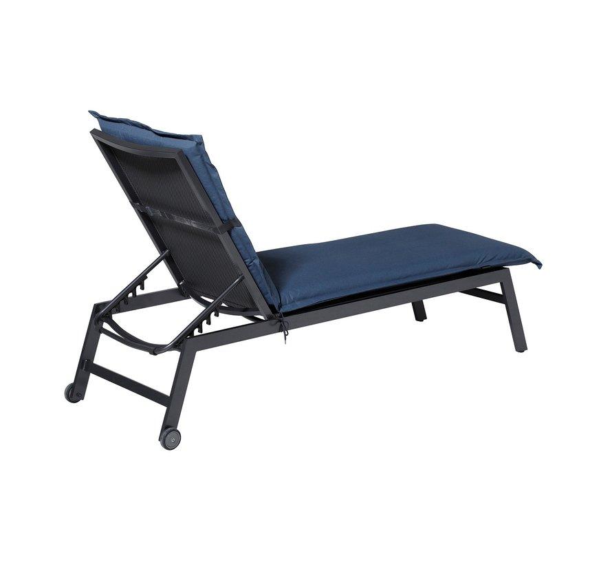 Ligbedkussen Outdoor Panama Saffier Blauw 200x60cm