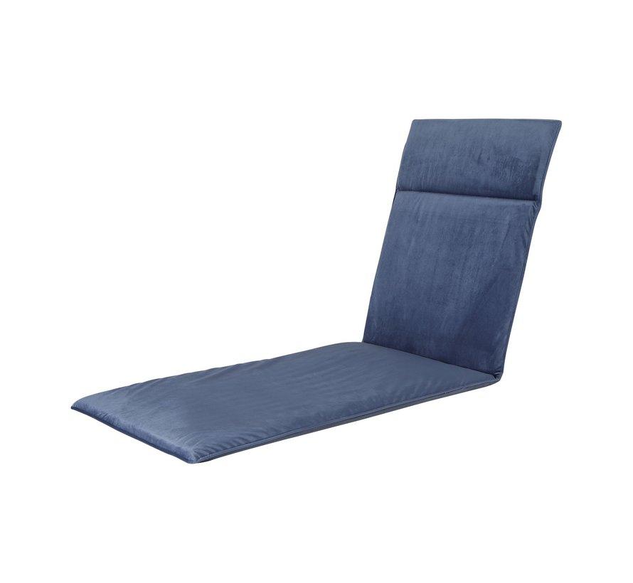 Ligbedkussen Outdoor Velvet Panama Saffier Blauw 190x60cm