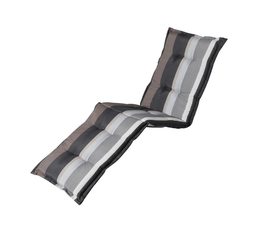 Liegenauflage Stripe Grau 200x60cm