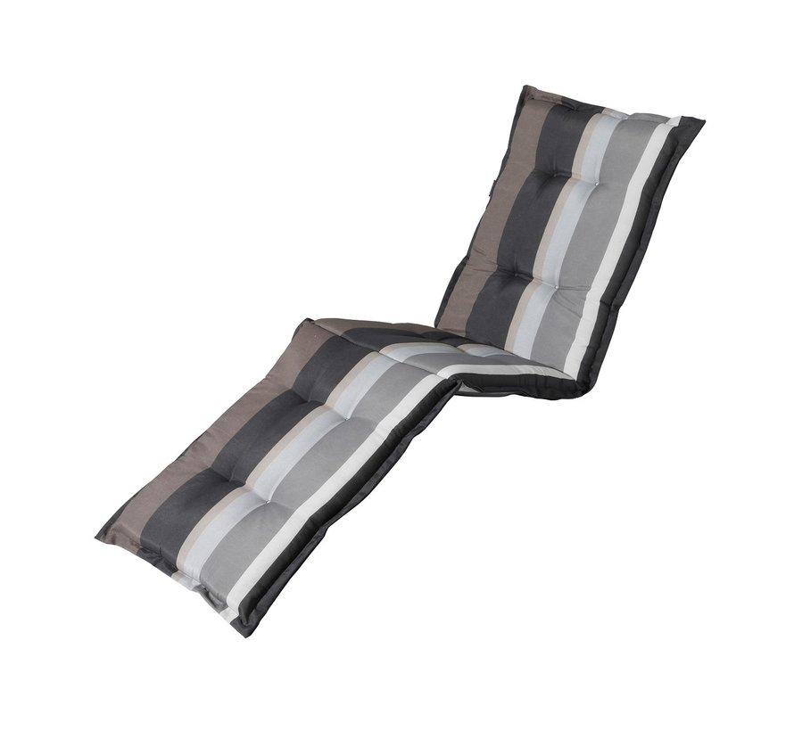 Ligbedkussen Stripe Grijs 200x60cm