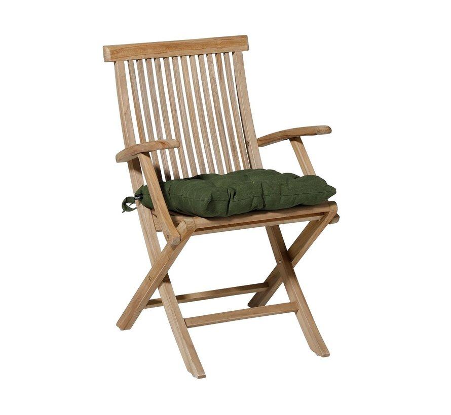 Toscane Panama Sitzkissen für Gartensessel oder Gartenbänke 46x46cm Grün