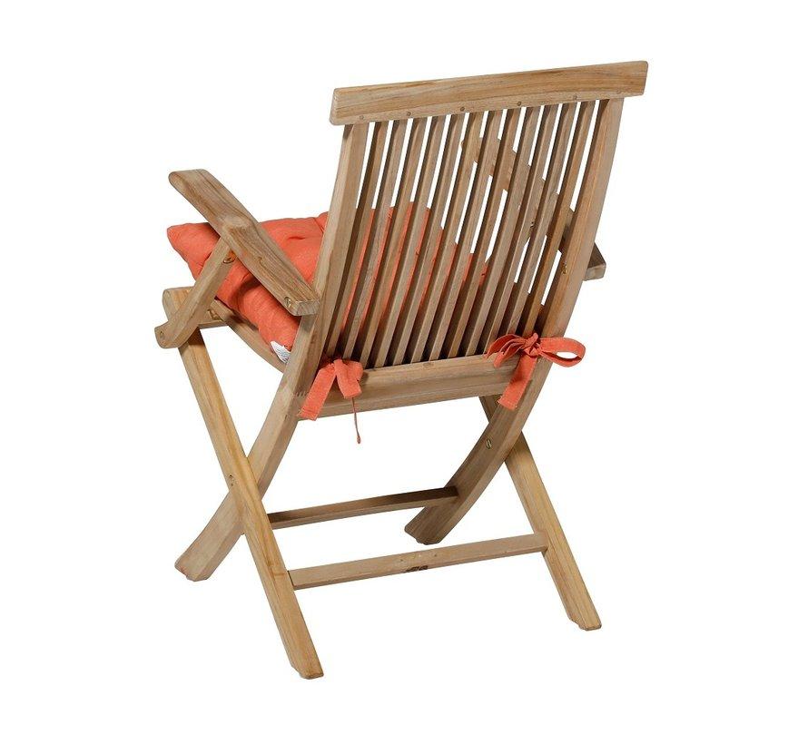 Toscane Panama Sitzkissen für Gartensessel oder Gartenbänke 46x46cm Orange