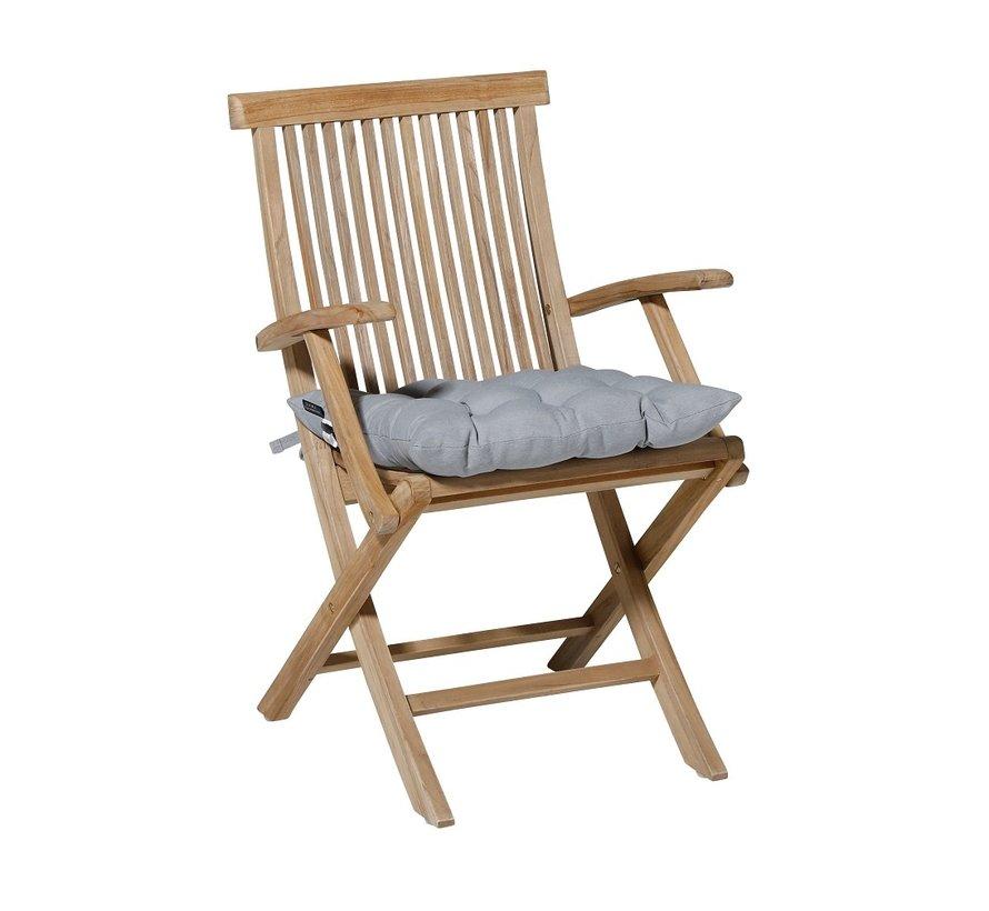 Toscane Panama Sitzkissen für Gartensessel oder Gartenbänke 46x46cm Licht Grau