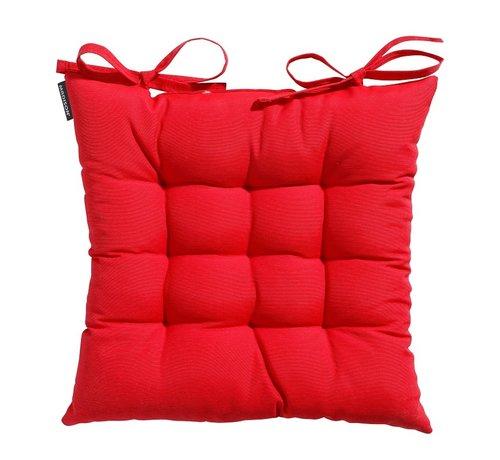 Madison Toscane Panama Sitzkissen für Gartensessel oder Gartenbank 46x46cm Rot