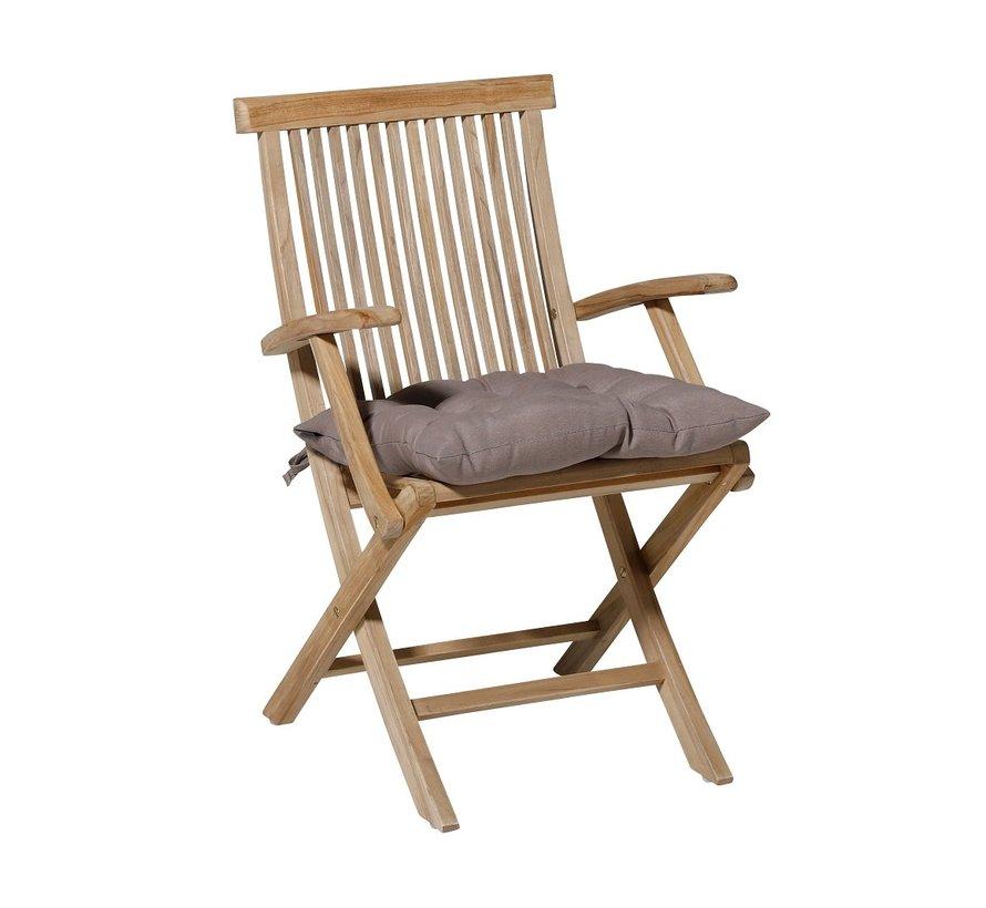 Toscane Panama Sitzkissen für Gartensessel oder Gartenbänke 46x46cm Taupe
