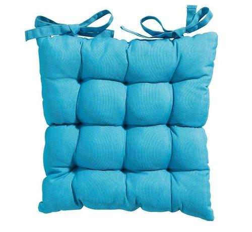 Madison Toscane Panama Sitzkissen für Gartensessel oder Gartenbänke 46x46cm Aqua Blau